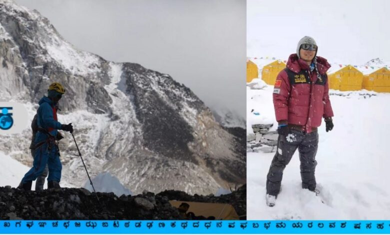 Zhang Hang, the first blind to climb Everest in Asia