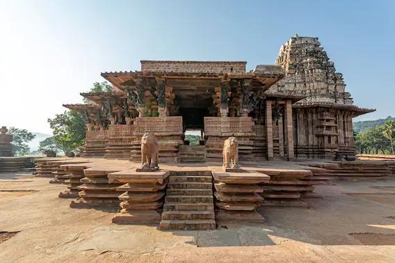 Kakatiya Rudreswara Temple Telanagana UNESCO World Heritage Site Thousand Pillar Temple Ramappa Temple